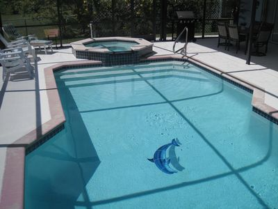 Cape Coral house rental - The Blue Dolphin pool