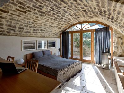 350 year-old sandstone house with a beautiful view of the valley in unspoilt nature
