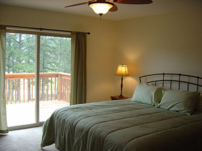 Master Bedroom With Great Views and Private Access to Hot Tub!
