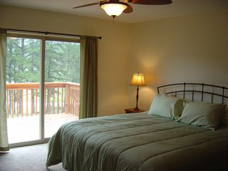 Custer house photo - Master Bedroom With Great Views and Private Access to Hot Tub!