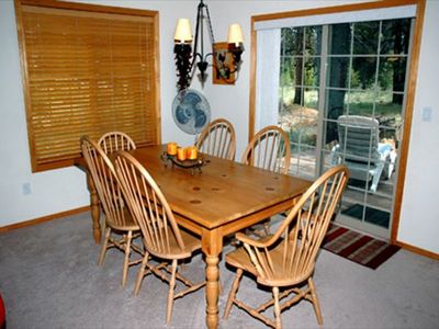 Dining Area - Great view and doors to back deck.