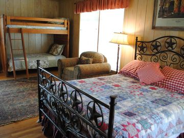 Second Bedroom with Queen bed and twin bunk beds
