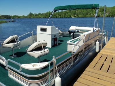 Rent the comfy Pontoon during your stay. All set up for fishing & swimming.