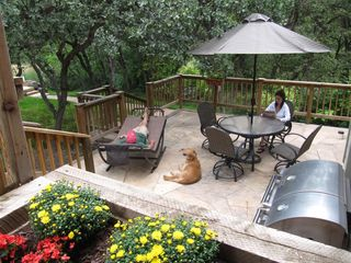 Glenwood Springs cabin photo - Access to a Shared Patio with Gas Grill