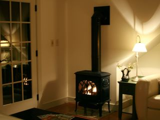 Blue Hill apartment photo - Enjoy a relaxing evening in front of the fire!
