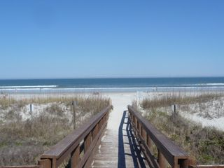 St. Augustine Beach condo photo - Private boardwalk to gorgeous beach