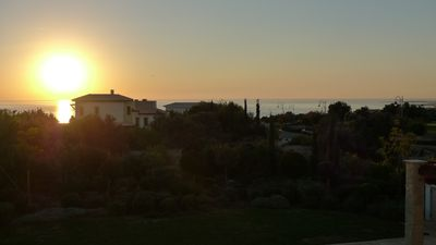 Sunset views of the Med from veranda
