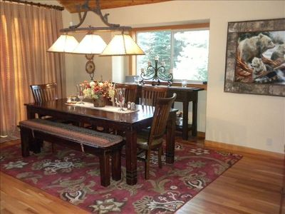Dining Area-Seats 8-10-opens to back deck, BBQ and outdoor dining