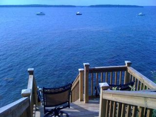 Harpswell cottage photo - Chairs by the water