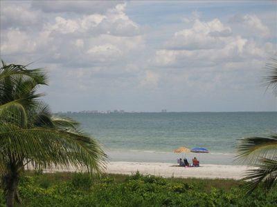 Enjoy our beautiful white sandy beach on the Gulf of Mexico.