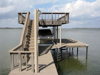 Closer view of the boat dock.  You can fish right off the dock!