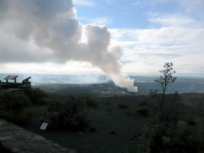 Steam from Halemaumau Crater