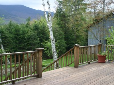 Franconia house rental - Deck
