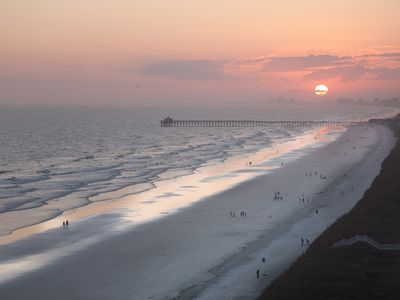 Cherry Grove Beach condo rental - My wife captured this image from our balcony. The view is wonderful.
