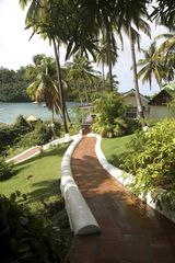 Marigot Bay apartment photo - The Walkway to the Beach and Restaurants