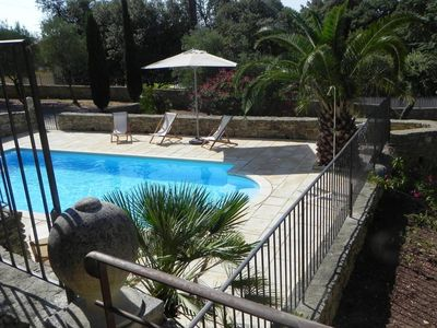 Air-conditioned villa with pool for 8 persons in Uzes