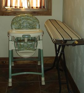High chair and Ironing Board