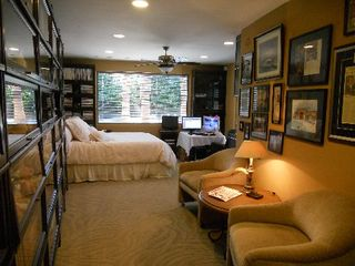 "Indian Wells estate photo - Master ""Queen Retreat"" has fabulous sliding glass view across the entire yard"