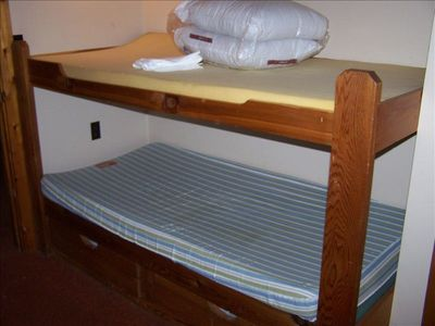 One set of bunks, will be made up before your arrival