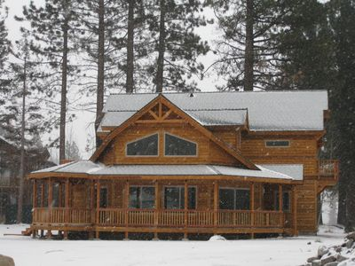 North Upper Truckee house rental - Expansive windows, covered porch/gazebo, 3 Decks