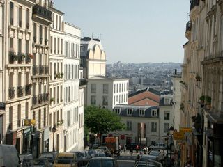 18th Arrondissement Montmartre apartment photo - Paris from Ravignan street