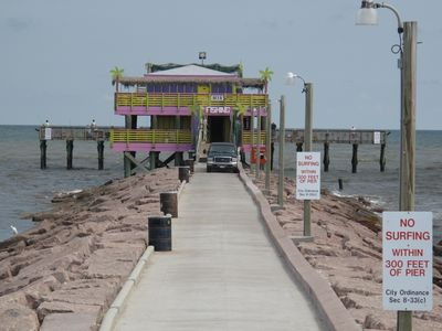 New fishing Pier at 61st street and Seawall blvd just steps way from the condo!