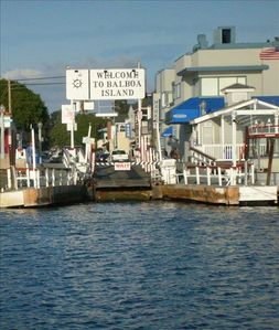 Welcome to Balboa Island.  Here is the ferry landing!