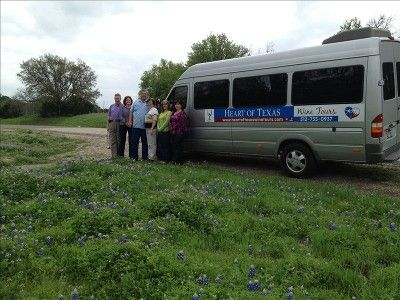 Hill Country visitors on a Heart of Texas Wine Tour discounted to our guests