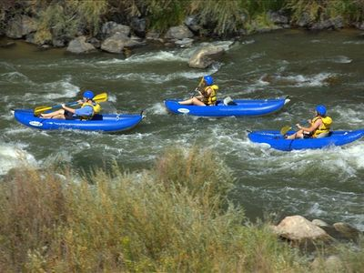 White water rafting 21 miles from property