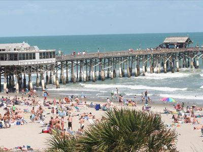 View of Cocoa Beach Pier from the Chateau