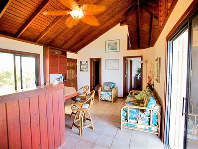 Great Cruz Bay villa rental - Tropical Orchid living room - Everthing you need for the perfect getaway!
