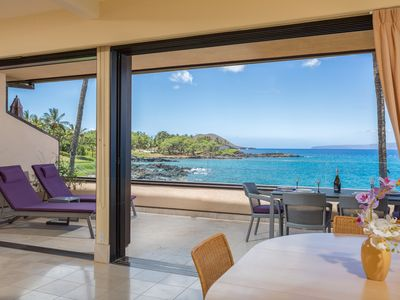 Panoramic ocean views from the lanai in the great room!