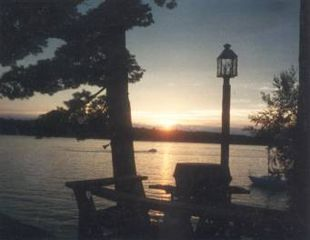 Gilford house photo - Sunset deck,