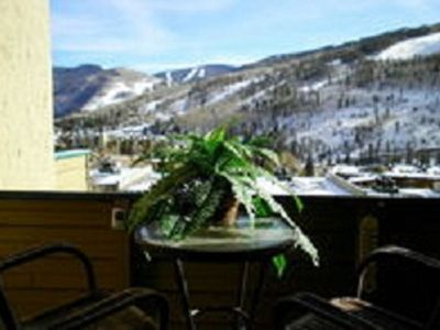 the South facing Patio overlooking Vail Mountain