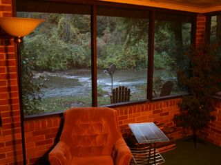 Clearfield cabin photo - Screened porch riverside