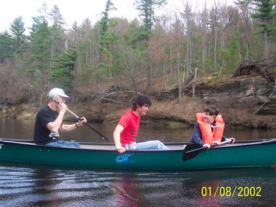 Black River Falls cabin rental - Canoeing on the Black River