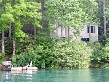 Lake Nantahala house rental - View of house from lake