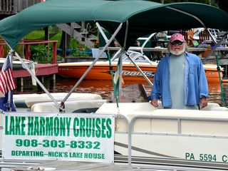 Lake Harmony chalet photo - Call Captain Wolfy to cruise the Lake.. Coolers Required! Mention Ledgestone !
