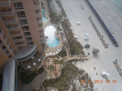 Looking East to East tower pool area and beach