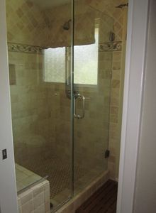 Master Bath Travertine Shower