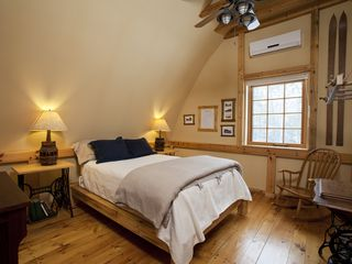 Biwabik house photo - Sunset bedroom with Select Comfort mattress and organic linens