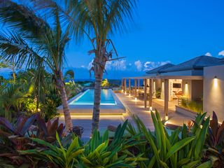 St Barthelemy villa photo - Villa Imagine - Outdoor terrace with sea views