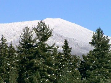 View of Haystack Mountain 1/7/13. Trailhead is <1 mile from Bear'n Lodge.