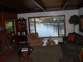 Lake Arrowhead house photo - The den overlooking the lake