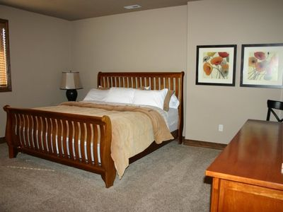 King size bedroom down...Bedroom #2 in Pervenche Midway Utah Vacation Rental