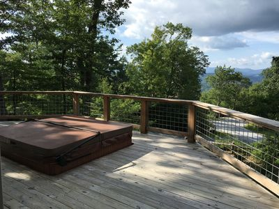 Wrap Around Deck with sunken hot tub for 6