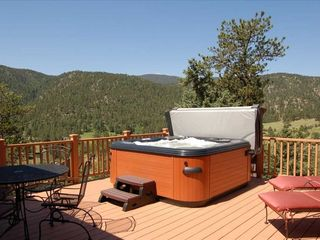 Estes Park house photo - Hot Tub Deck overlooking the Mountains