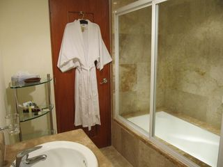 Cabo San Lucas condo photo - Your Romantic Spacious Master Ensuite with Double Wash Basins & Soaker Tub.