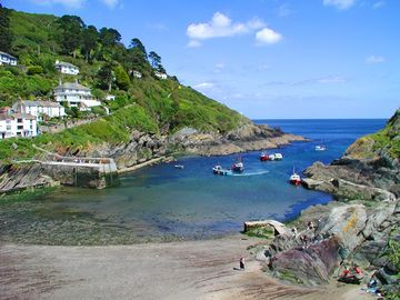 Polperro's beach views from Charlie Wilcxo Cottage