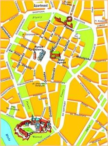 We are a five-minute walk from the Main Market Square